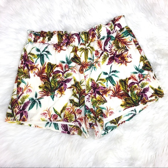 Staccato Pants - Staccato Tropical Print Shorts Size Large